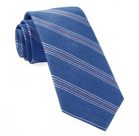Light Cobalt Blue Derby Lane Stripe ties