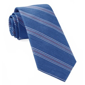 derby lane stripe light cobalt blue ties