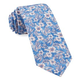 Island Blooms Classic Blue Ties