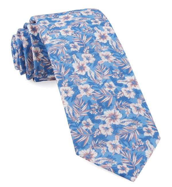 Island Blooms Classic Blue Tie