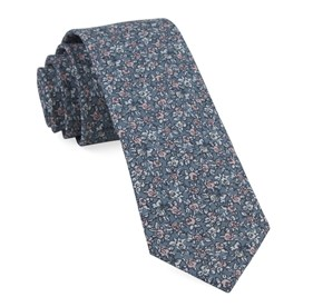 Bhldn Blush Floral Grey Ties