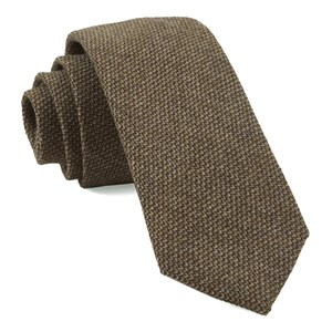 pebble top solid brown ties