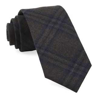 grit plaid brown ties