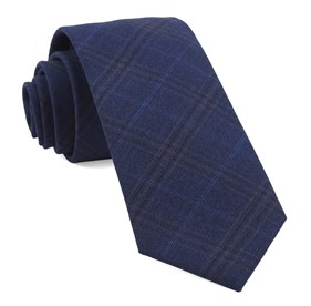 Navy Brisk Plaid ties