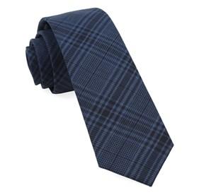 Navy Blue Sole Plaid ties