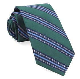 Hunter Green Rangel Stripe ties