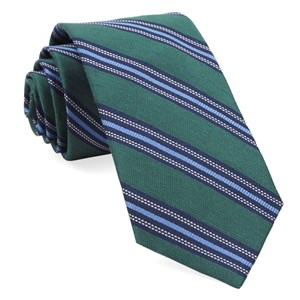 rangel stripe hunter green ties