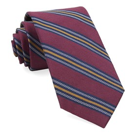 Burgundy Rangel Stripe ties