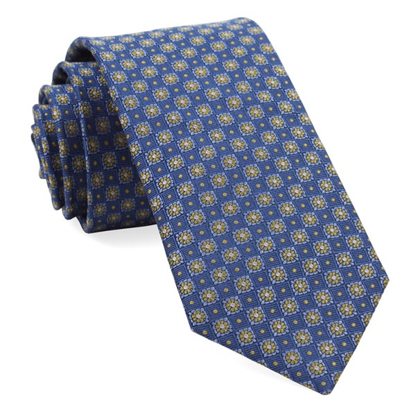 Blue Homme Medallions Tie