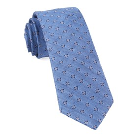 Light Blue Medallion Scene ties
