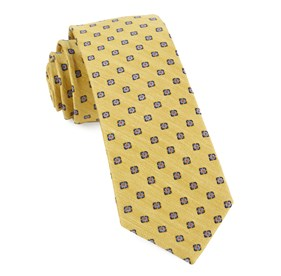 Medallion Scene Yellow Ties