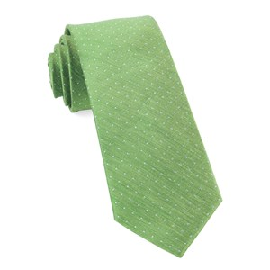 rivington dots apple green ties