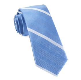 Goal Line Stripe Light Blue Ties