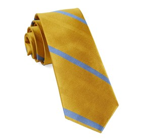 Yellow Gold Goal Line Stripe ties