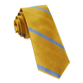 goal line stripe yellow gold ties