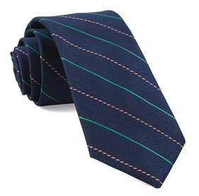 Navy Candy Cane Stripe boys ties