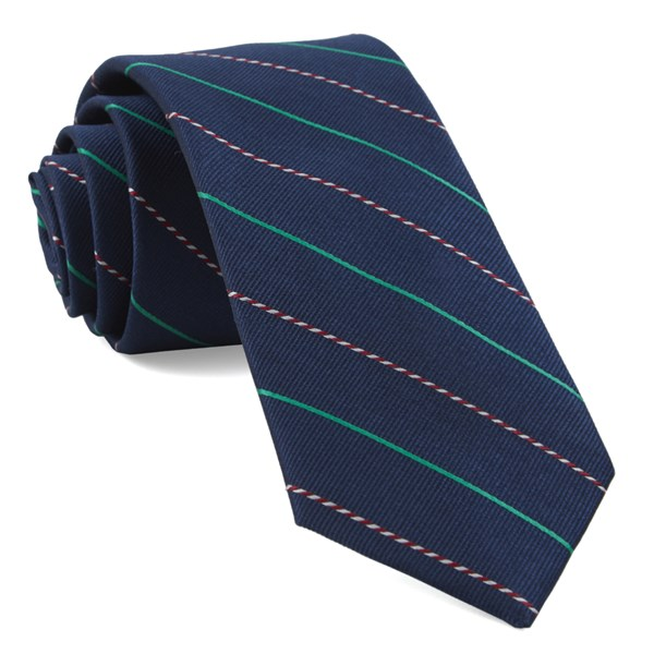 Navy Candy Cane Stripe Tie