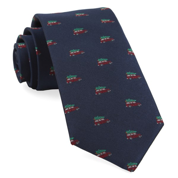 Navy Christmas Vacation Tie