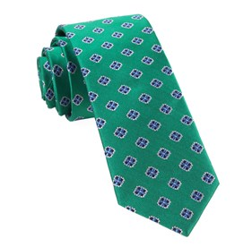 Kelly Green Hep Medallion ties
