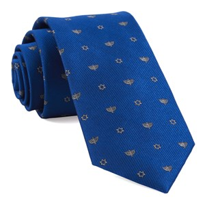 menorahs royal blue boys ties