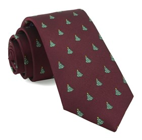 Burgundy O Christmas Tree ties