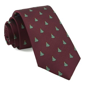 o christmas tree burgundy ties