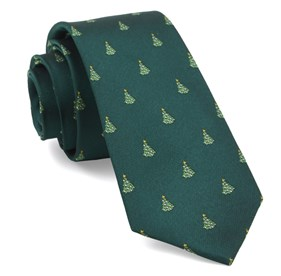 Hunter Green O Christmas Tree ties