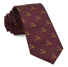 Reindeer Ranch Burgundy Ties