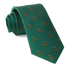 Kelly Green Reindeer Ranch ties