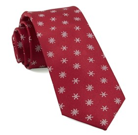 Red Snowflake Suite ties