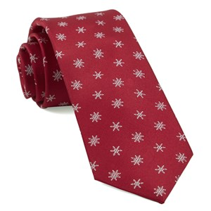 snowflake red ties
