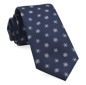 Navy Snowflake Suite ties