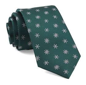 Hunter Green Snowflake Suite ties