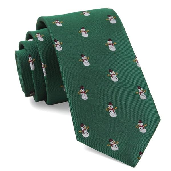 Kelly Green Snowman Goals Tie