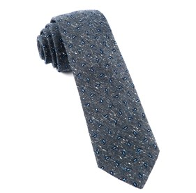Deep Slate Blue Paisley Timber ties