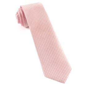 Be Married Checks Blush Pink Ties