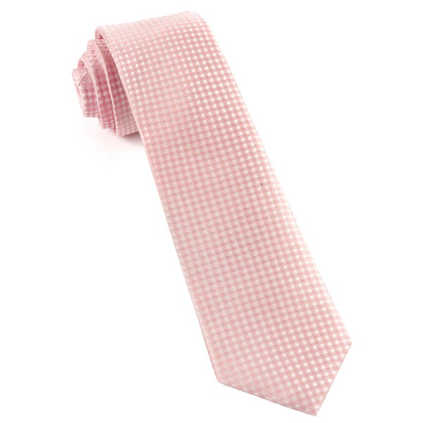 Blush Pink Be Married Checks Tie