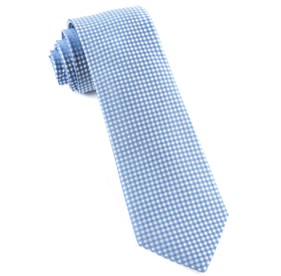 Be Married Checks Light Blue Ties