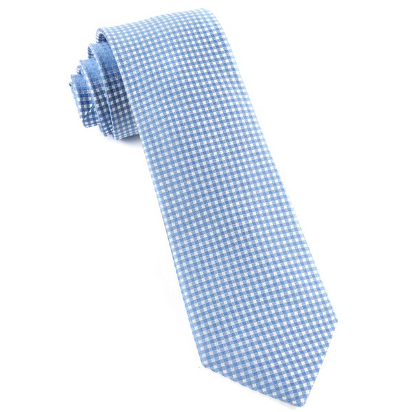 Light Blue Be Married Checks Tie