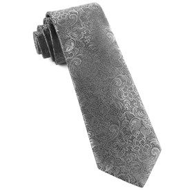 Charcoal Ceremony Paisley ties