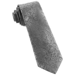 ceremony paisley charcoal ties
