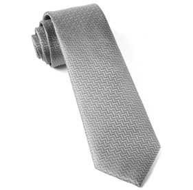 Dance The Zig-zag Silver Ties