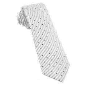 Silver Down The Aisle Dots ties