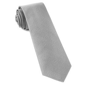 Silver Melange Twist Solid ties
