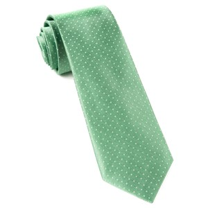 mini dots mint ties