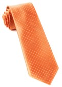 Ties - Mini Dots - Tangerine