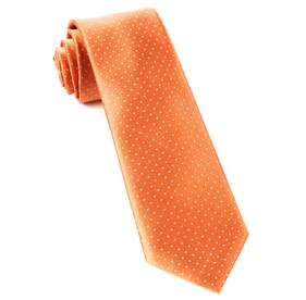 Tangerine Mini Dots ties