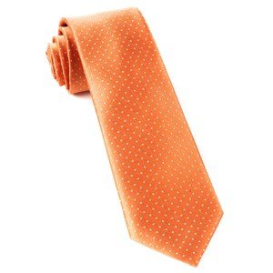 mini dots tangerine ties