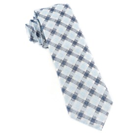 Plaid Bliss Sky Blue Ties