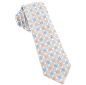 Light Champagne Plaid Bliss ties